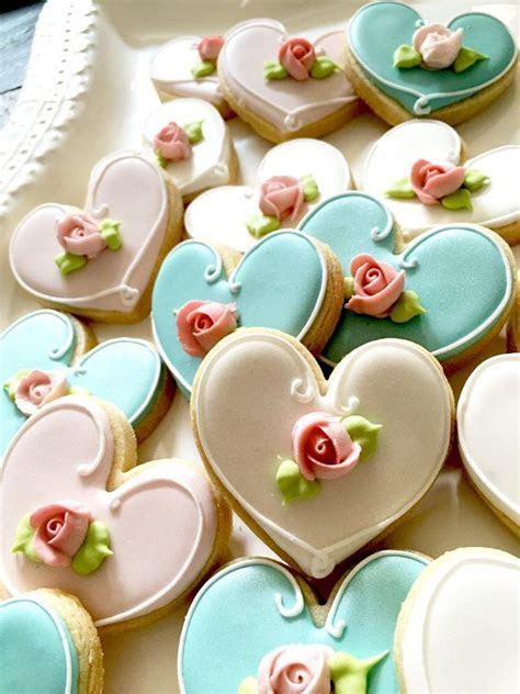 12 Pcs. Assorted Color Heart Cookie Favor  Wedding Favors