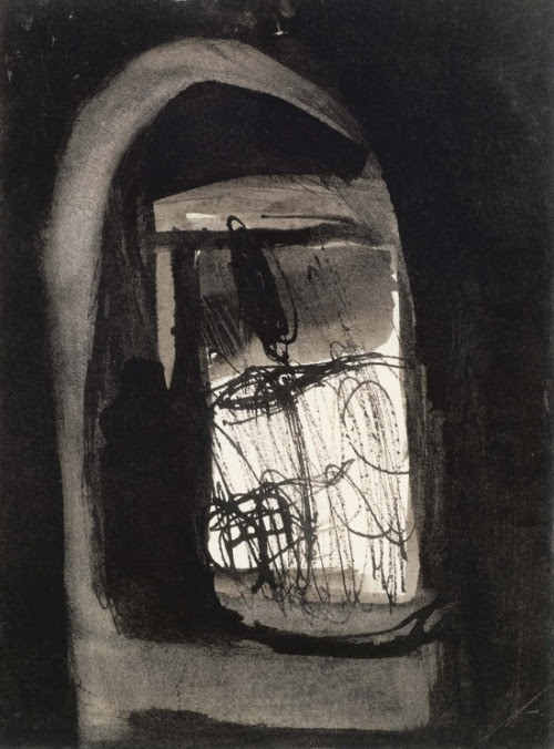 Eva Hesse - No title (Oberlin), 1961 Gouache and ink on paper