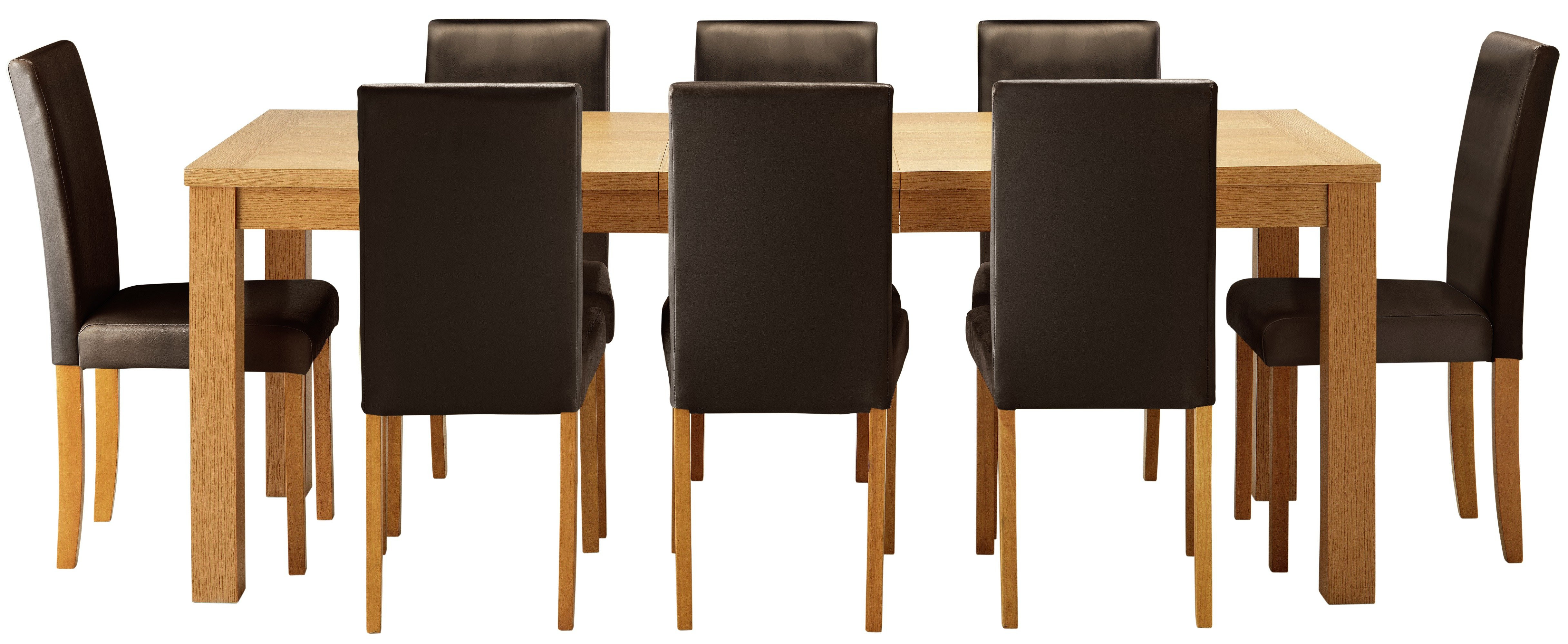 Buy HOME Hemsley Extendable Dining Table  8 Chairs  Chocolate at Argos.co.uk  Your Online