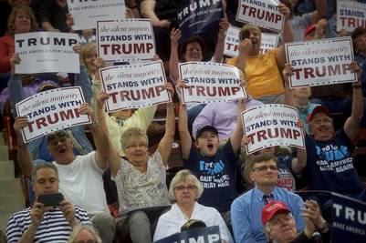 Acto a favor de Trump en Pennsylvania, un estado clave porque oscila en sus preferencias políticas.