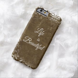 Vintage Life is Beautiful Quote Barely There iPhone 6 Case