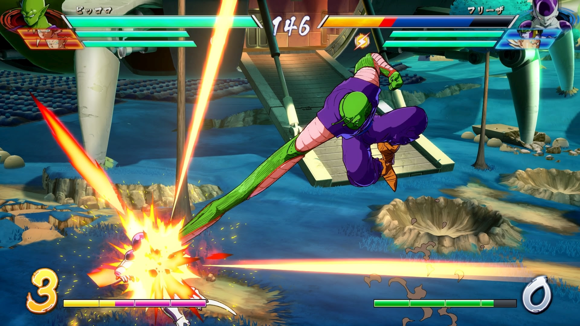Piccolo and Krillin are looking great in Dragon Ball Fighter Z screenshot