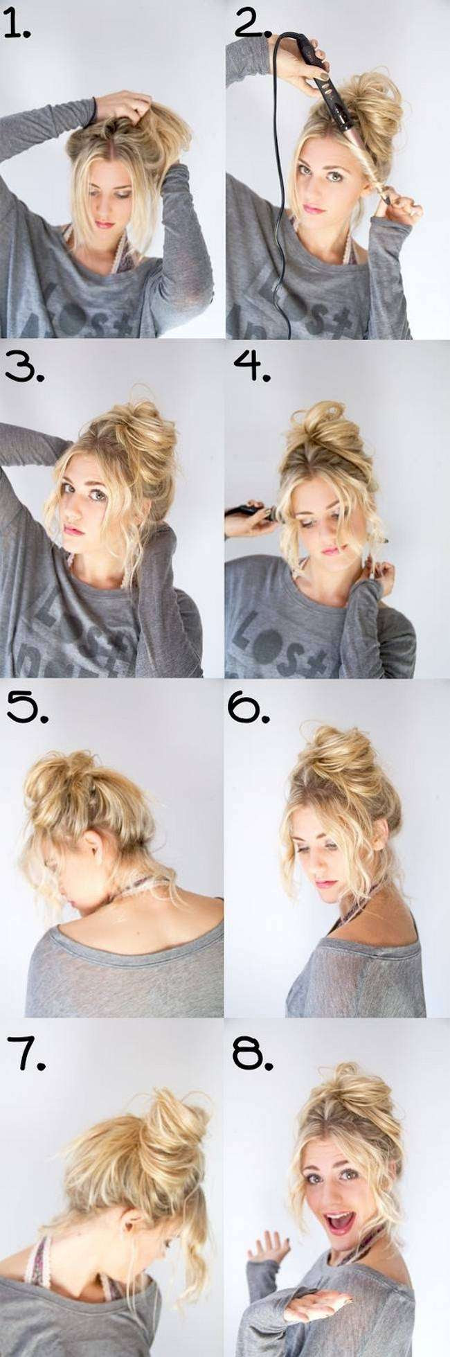 20 Amazing Step By Step Bun Hairstyles Hairstyle Amp Beauty