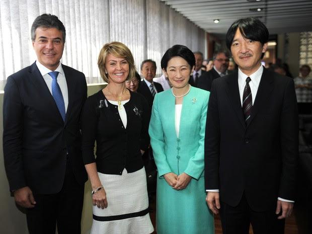 Príncipe e princesa da família imperial japonesa visitam Curitiba (Foto: Divulgação/Agência Estadual de Notícias)