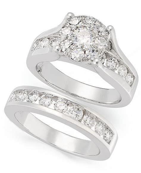 Macy's Diamond Engagement Ring and Wedding Band Bridal Set