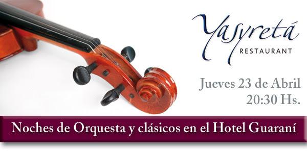 Noches de orquesta y clásicos en el Hotel Guaraní