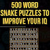 Free Reading 500 Word Snake Puzzles To Improve Your IQ B00KFU70IK/ English PDF