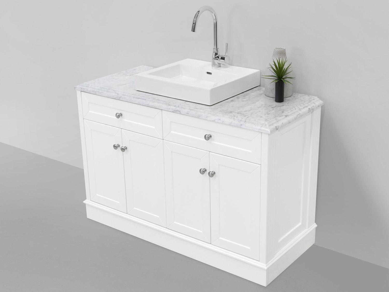 Allure Bathrooms Classic White 1200 Marble Top Vanity