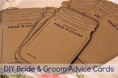 17 Best ideas about Advice Cards on Pinterest   Bridal