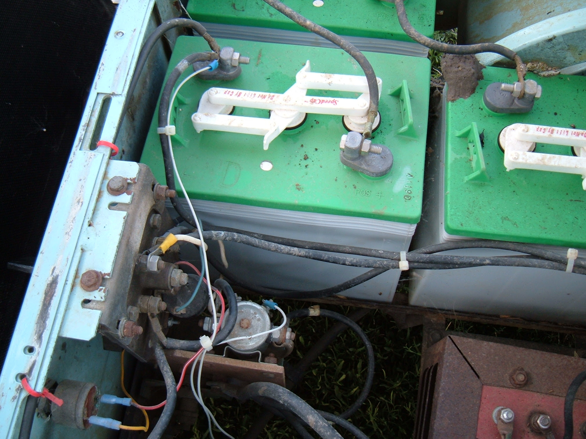 My electric golf cart is an older one app 40 yrs old or ...