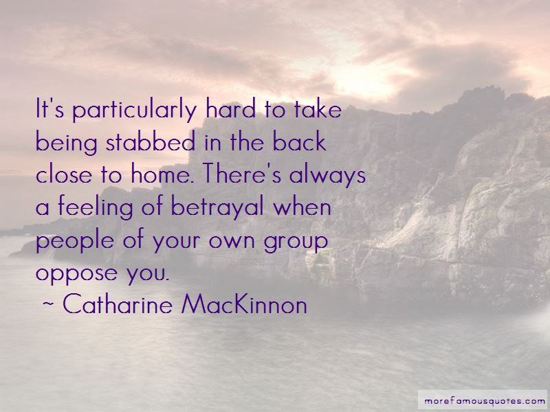Feeling Stabbed In The Back Quotes Top 1 Quotes About Feeling