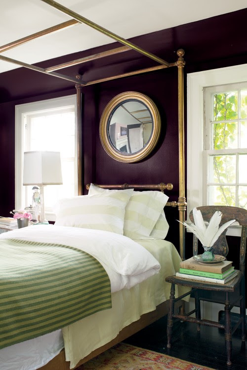 Traditional Aubergine Bedroom By Montvale Paint And Wallcoverings