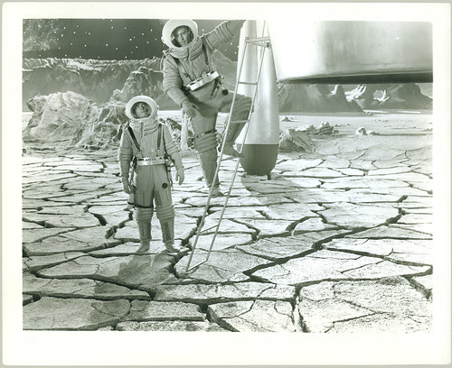 Destination Moon - One on the moon, one on the ladder.