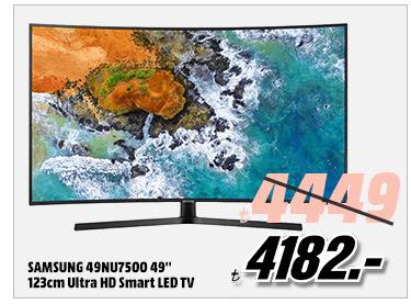 SAMSUNG 49NU7500 49'' 123cm Ultra HD Smart LED TV 4182TL