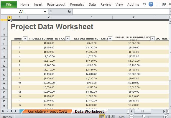 Simply Type in the Required Data to Complete Your Own Project Budget