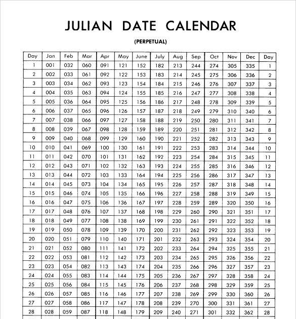 Printable 2021 Julian Calendar | 2022 Calendar