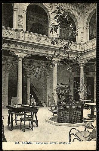 Hotel Castilla, interior. Foto Lacoste, 1908