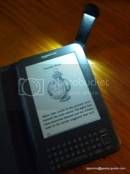 Kindle 3 With Lighted Case