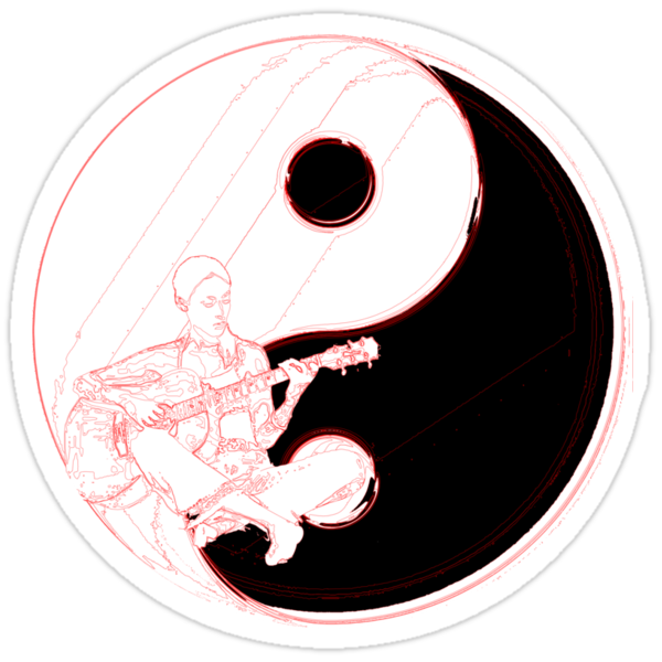 yin, yang, cool, chinese, oriental, graphic, funny, philosophy, ianbyfordart guitar, guitarist guitars, play, playing, music, musical, rock, rock and roll, sound, pitch, melody, harmony, rhythm, musician