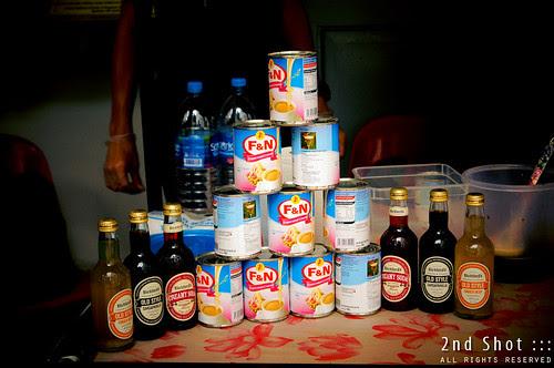 Evaporated creamer, ginger beer, sarsaparilla and creamy soda