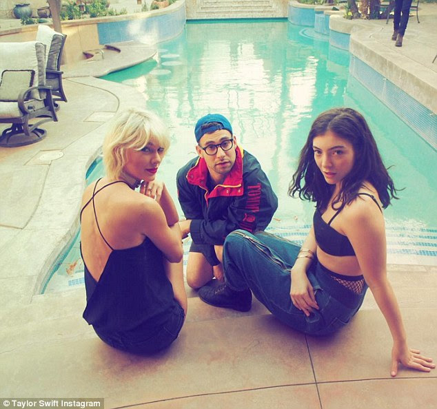 All-stars! Taylor with the lead singer of Bleachers Jack Antonoff and singer-songwriter Lorde