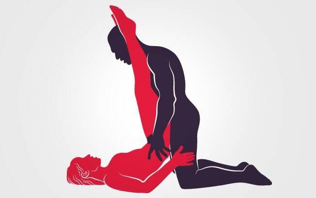"""35. """"T"""" INVERTIDO: Com as pernas posicionadas quase a 90 graus, ela recebe a provocante penetração do parceiro – faça com as luzes acesas! . Foto: Renato Munhoz (Arte iG)"""