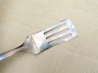 Trimmed spatula blade