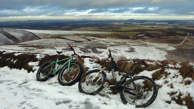 Lammermuirs Cycle in the Snow.