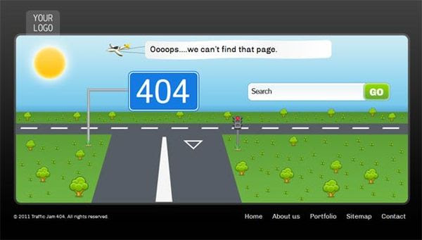 Free HTML 404 Error Template