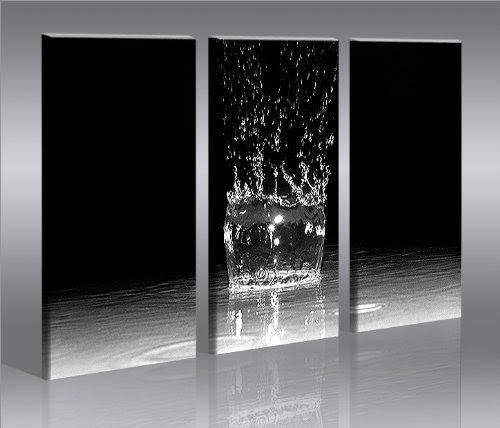 Splash 3 quadri moderni su tela pronti da appendere montata su pannelli in legno - Quadri da mettere in bagno ...