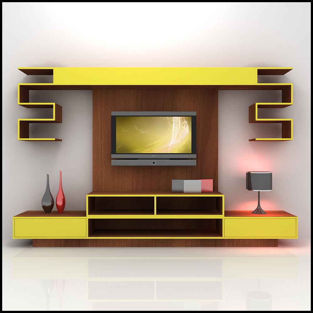 TV / Wall Unit Modern Design X_10 3D Model .max .obj .3ds .c4d ...