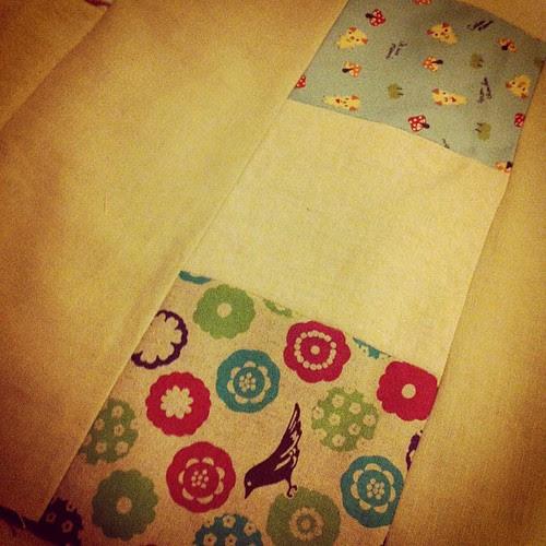 Zakka quilt in progress