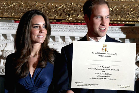 william and kate wedding invitation. William and Kate send out