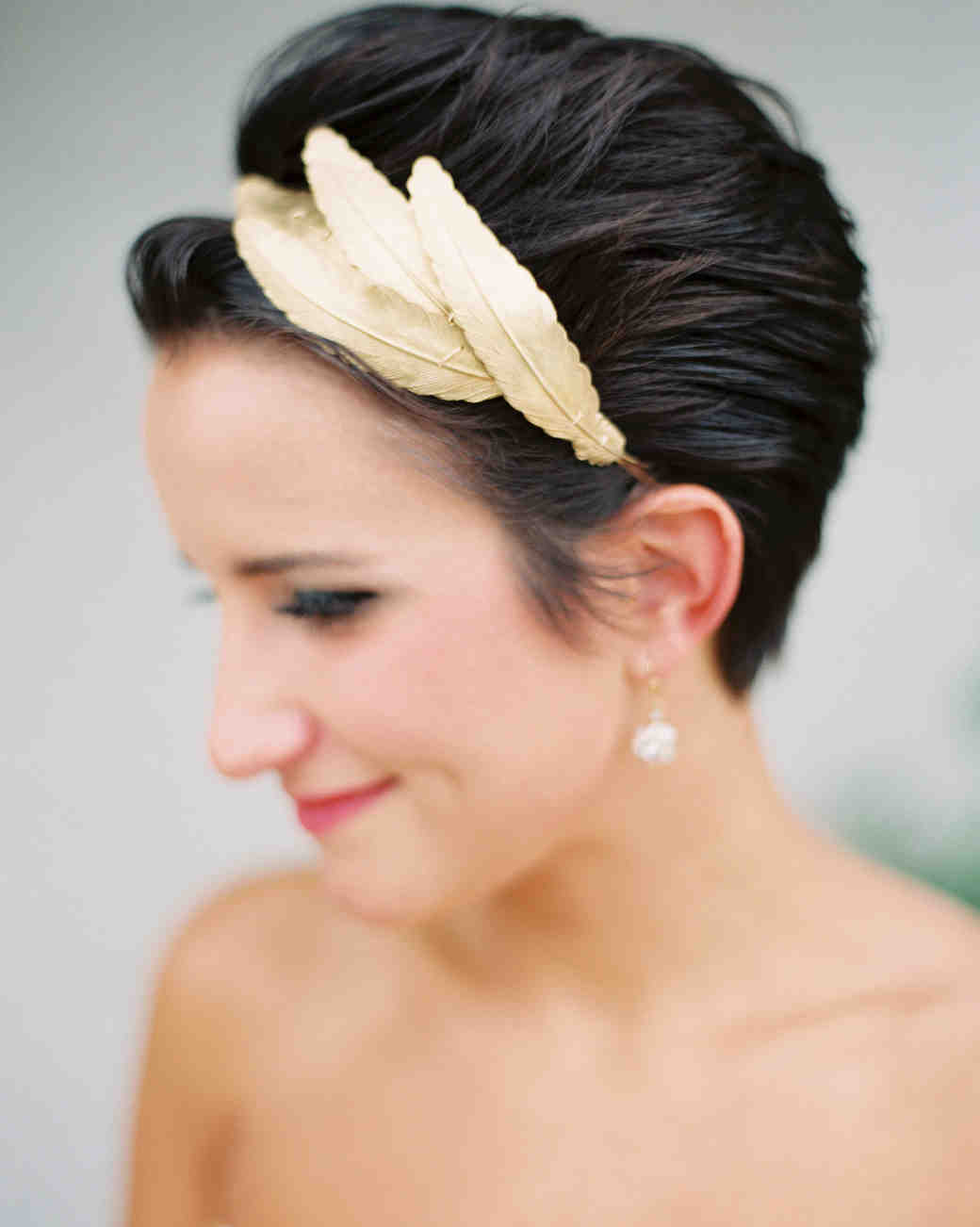 Chic Wedding Hairstyles for Short Hair Martha Stewart