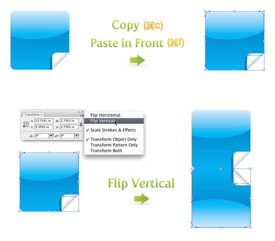 Cop, Paste, and Flip Vertical