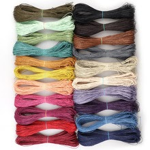 21colors 70m/lot Waxed Leather Thread Wax Cotton Cord String Strap