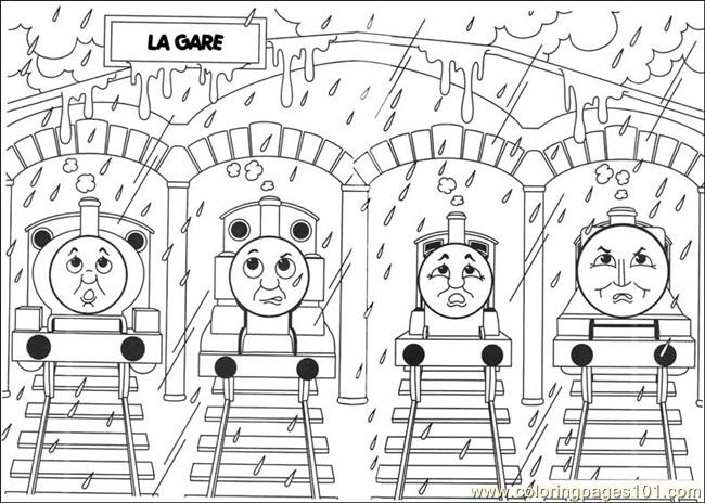 Thomas Friend Coloring Pages