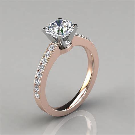 Novo Design Round Cut Engagement Ring   PureGemsJewels