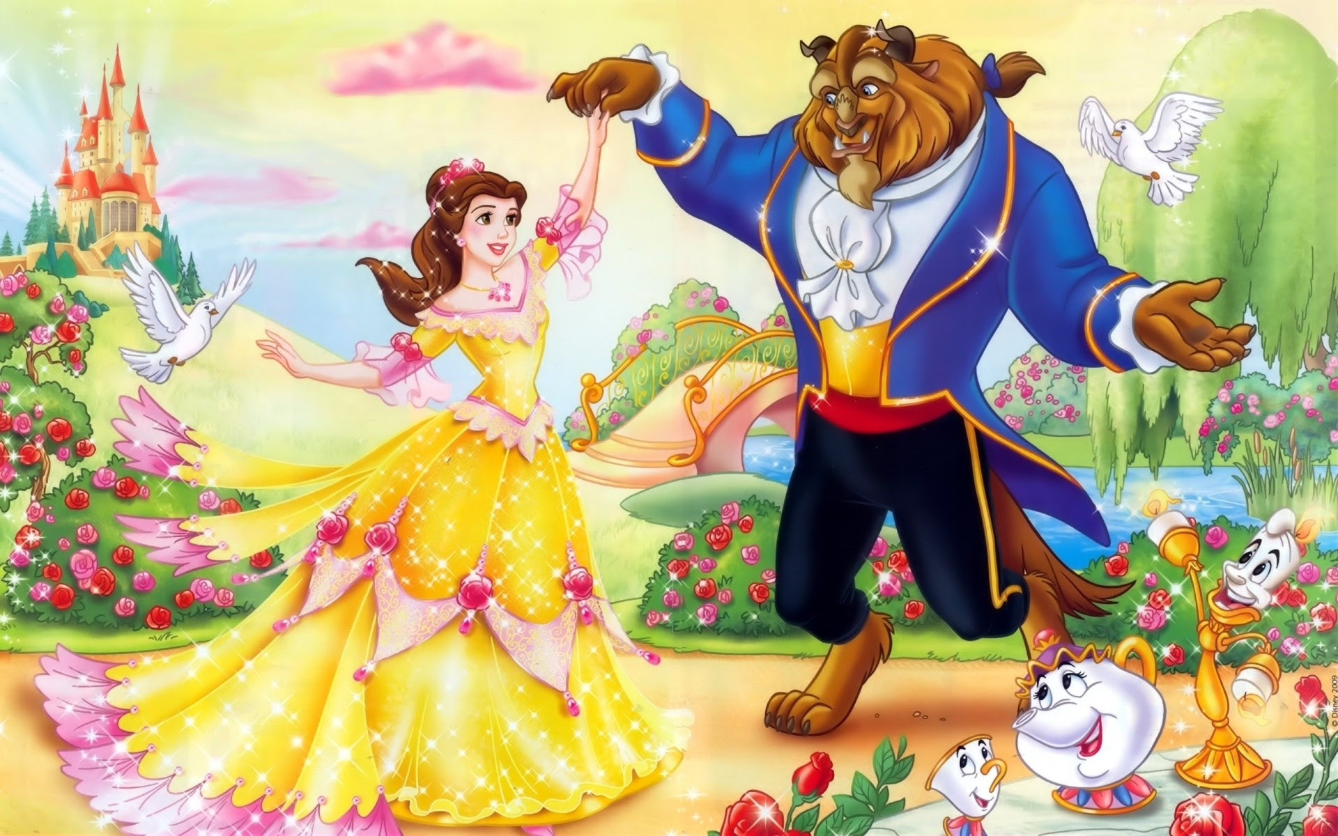 Beauty And The Beast Wallpaper 1920x1080 Wallpaper Ecopetit Cat
