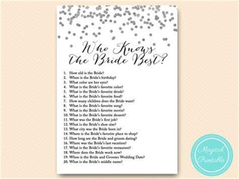 Silver Foil Confetti Bridal Shower Games Pack   Magical