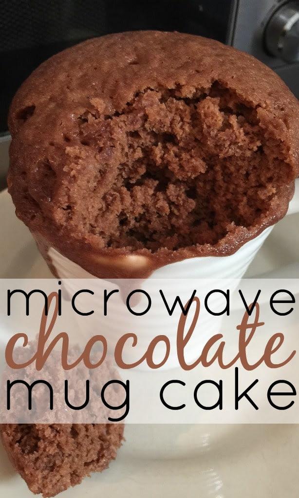 Homemade Microwave Chocolate Mug Cake - Skint Dad