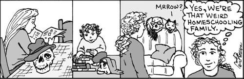 Home Spun comic strip #717