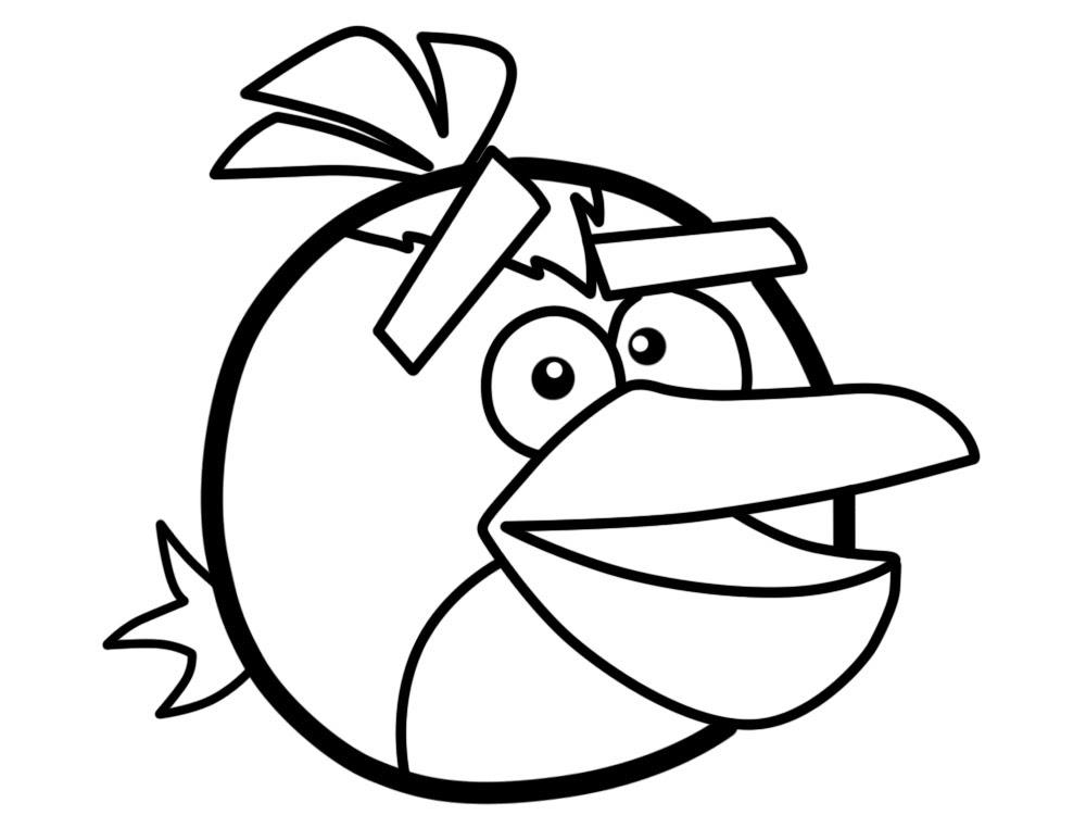 Dibujos Animados Para Colorear Angry Birds Para Niños Pequeños
