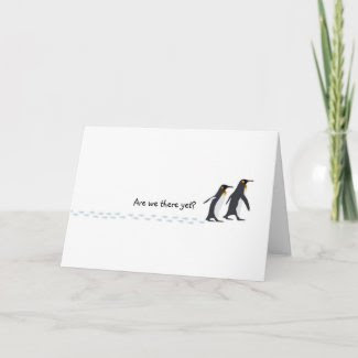 Penguin Prints Holiday Card