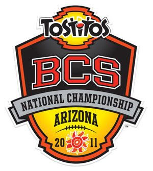 Logo for the 2011 BCS National Championship Game in Glendale, Arizona.