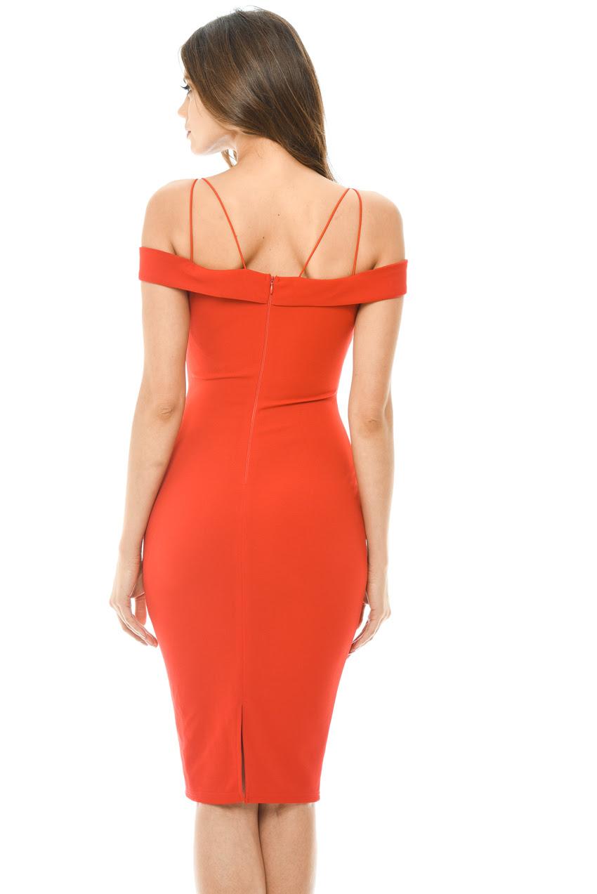 Sizes ax paris red bodycon dress for women
