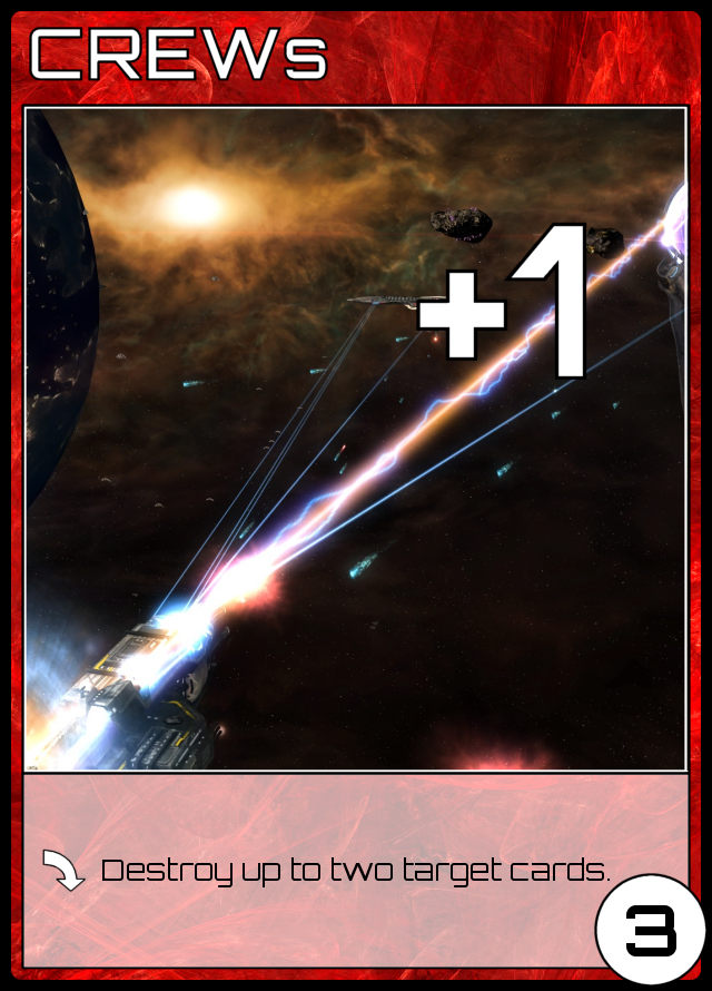 3ER, +1, played: Destroy up to two target cards.
