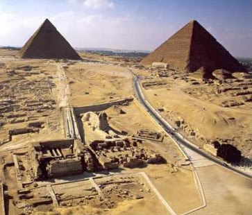Great Pyramids at Giza in Egypt
