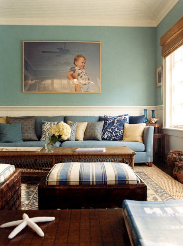 Blue & brown, Hamptons style: Perfect blues + natural accents + ...