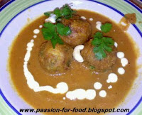 Marbled Minty Koftas in Tomato Gravy by Vini